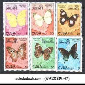 CUBA - 1993 BUTTERFLIES / BUTTERFLY - BANKOK 1993 - 6V MNH