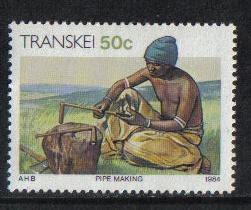 Transkei 1984 MNH Xhosa Culture 50c pipe making   #