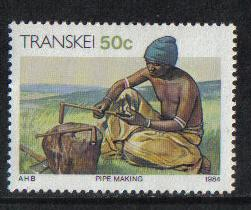 Transkei 1984 MNH Xhosa Culture 50c pipe making   #