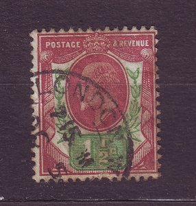 J23525 JLstamps 1902-11 great britain used #129 king