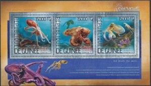 [1650] Guinea 2014 Fauna Marine good Sheet very fine MNH