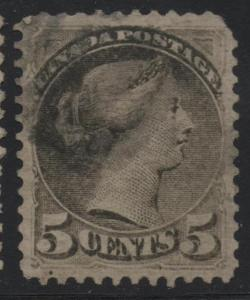 Canada Scott #38 VF Used 5c Small Queen Stamp
