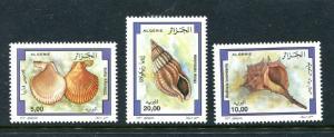 Algeria 1110-1112, MNH Marine Life, Shells 1997. x29352