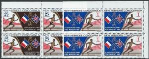 NEW HEBRIDES 1969 Sth Pacific Games set blocks of 4 MNH....................50942