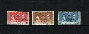 Antigua: 1937 King George VI Coronation,  good used set
