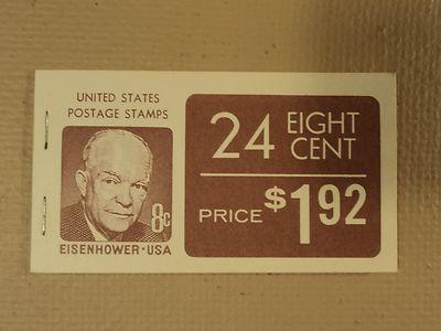 USPS Scott 1395a 8c Eisenhower Book Of 24 1970-74 Stamps ...