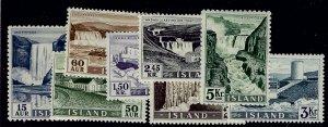 Iceland  SC#289-296 Set Mint F-VF SCV$60.00...An Amazing Place!