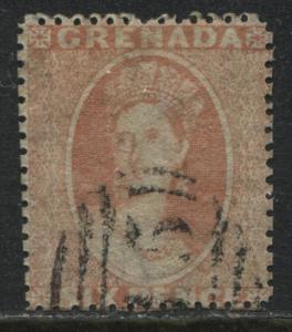 Grenada 1873 6d vermilion used