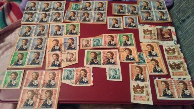 HIGH VALUE HONK KONG USED ON PAPER LOT WITH #217 X 31 STAMPS  $215.00