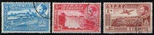 Ethiopia, Mi.# 239, 250, 259 used emperor Selassi