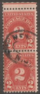 Usa stamp, Scott# J81, used pair of stamps, perf 11.0 x 10.5, 2 cent, #J81