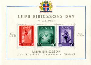 ICELAND B6 MNH  S/S SCV $8.00 BIN $5.00
