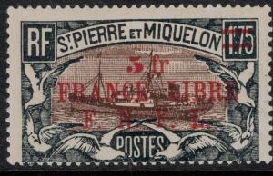 St. Pierre 1948 SC 221 Set H CV $22.50 -  France Libre