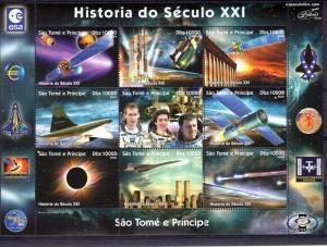 Sao Tome and Principe 2004  Halley's Comet/Concorde/Space Shlt (9) Perf.MNH