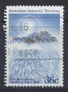 Australian Ant.Terr.- Scott L75- Antarctic Treaty - 1986 - FU - 36c Multi-Lot 1