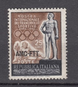 J27603 1952 italy-trieste set of 1 mh #143 sports ovpt