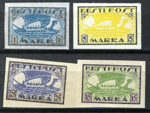 Estonia 1919-20, Vikingships, Mi 12y,13x, 23B, 24B, All MNH Cat +34,5€ (E10005)