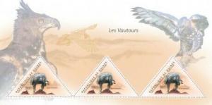 Guinea - Vultures - 3 Stamp  Sheet  - 7B-1555