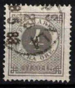 Sweden - SG17a - 4ö ring type perf 13. CV 10£ (approx 11.60 Eur)