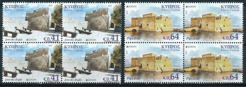 [I1927] Cyprus 2017 Europa good set in bloc of 4 stamps very fine MNH