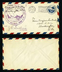 AM # 18 First Flight cover Watertown, South Dakota Dated 1-16-1932