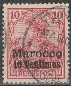 Germany Off In Morocco  #9 F-VF Used  (S4269)