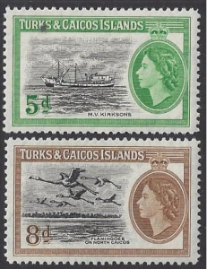 Turks & Caicos; Caicos Is. #119-20 - mint set, QE II & various designs