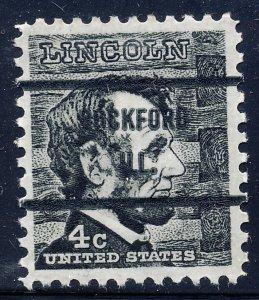 Rockford IL, 1282-71 Bureau Precancel, 4¢ Lincoln