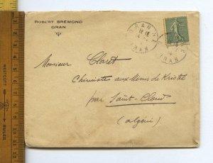 Oran Algeria to Saint Cloud Gdyel 1914 Chemist Kristel Mines Coinage