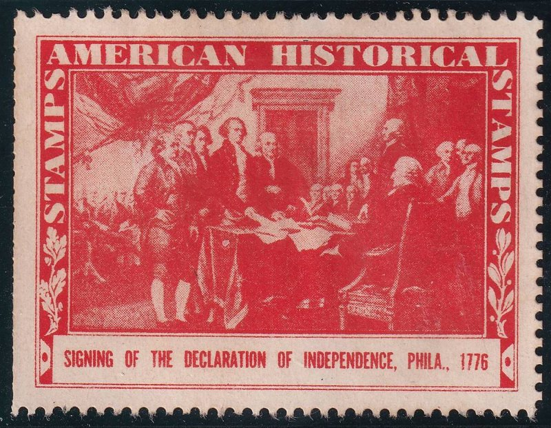 US STAMP POSTER 1937 American Historical Stamps collection lot #3