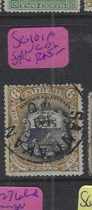 NORTH BORNEO  (P2601B)  6C    ARMS, LION  SG 101A  SANDAKAN SON CDS  VFU