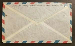 1951 Airmail Cover Bielsko Biala Poland to Chicago Illinois