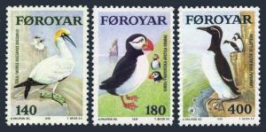 Faroe 36-38,MNH.Michel 36-38. Sea Birds 1978.Gannets,Puffins,Guillemots.