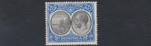 DOMINICA  1923 - 33   S G  78    2 1/2D   BLACK  &  ULTRAMARINE           MH