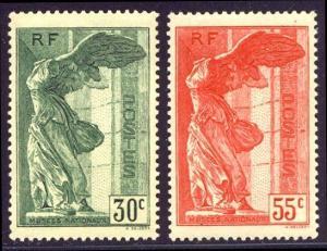 FRANCE #B66-67 Mint NH - 1937 Winged Victory Set