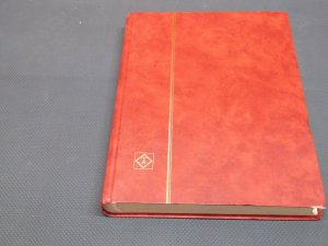 Red Stamp Stock Book 24 Pages with 9 Glasines Strips Good Condition