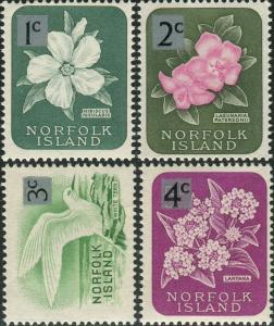 Norfolk Island 1966 SG60-63 Flowers Bird MNH