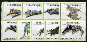 Turkmenistan 1999 BATS Set  (9) #2 Perforated MNH