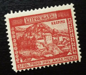 Croatia Early Poster Stamp krapina old town  C20