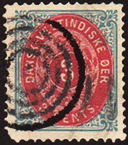 Danish West Indies Scott 6 Used.