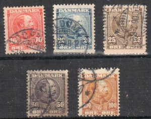 Denmark - Sc# 65 - 69 Used - Perfect Condition C$189.95
