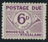 Rhodesia & Nyasaland SG D4 Sc# J4  MNH see details Postage Due