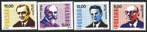 Poland. 1982. 2836-39. Polish mathematicians. MNH.