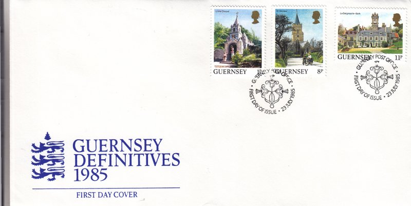 1985, Guernsey: Definitive, FDC (S18805)