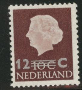 Netherlands Scott 374 MH* 1958 surcharged stamp