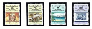 Cocos Is 203-09 MNH 1989 50th Anniv of 1st Aerial Survey of Indian Ocean Air ...