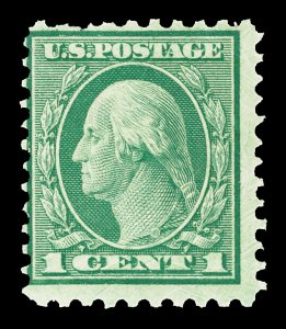 Scott 542 1920 1c Washington Perf 10x11 Mint Fine OG NH Cat $30