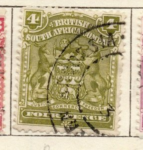 Rhodesia 1898 Early Issue Fine Used 4d. NW-11483
