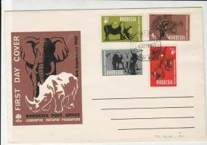 rhodesia 1967 conserve natural resources fdc stamps cover ref 20649