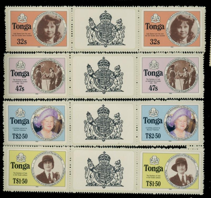 Tonga #608-11a MINT Gutter Pairs VF Cat$59
